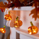 Glass Pumpkin Fairy Lights
