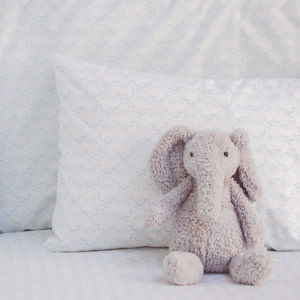 Elephant Print Cot Pillowcase - cot bedding