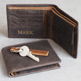 Personalised Handmade Buffalo Men's Leather Wallet - accessories