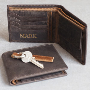 Personalised Handmade Buffalo Men's Leather Wallet - gifts for fathers