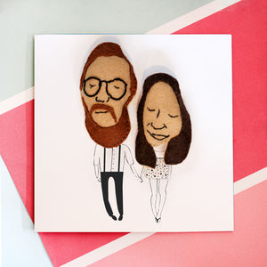 Personalised Wedding Couple Anniversary Card - gifts