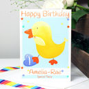 Personalised Duck Relation Birthday Card