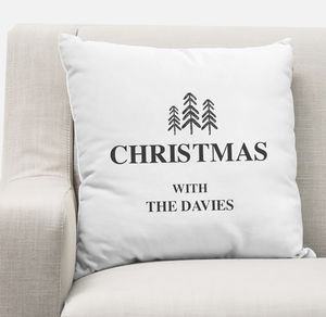 Personalised Christmas Cushion Cover - christmas home accessories