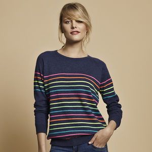 Poppy Neon Multi Stripe Jumper