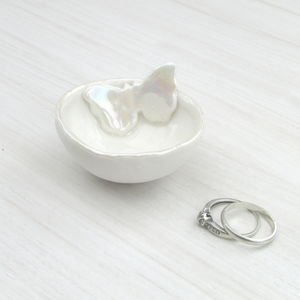Butterfly Ring Dish - jewellery storage & trinket boxes