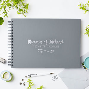 Personalised 'Memories Of' Condolence Book - albums & guest books