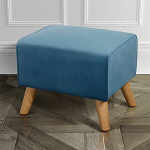 Classic Velvet And Oak Foot Stool - view all new