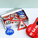 Gift Tin Of Chocolate Road Signs