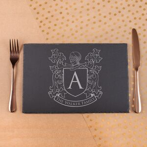 Personalised Natural Slate Place Mat