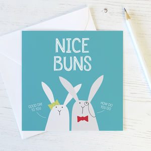 Nice Buns Funny Rabbit Card - easter cards