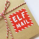 Pack Of Twenty Elf Mail Christmas Stickers