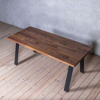 Albert Stripe Is And A Shaped Legs Walnut Table