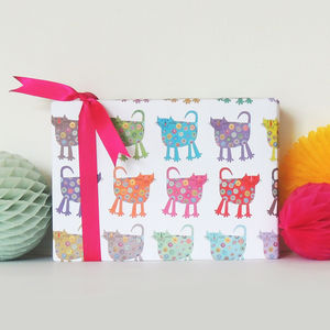 Cats Gift Wrap Two Sheets