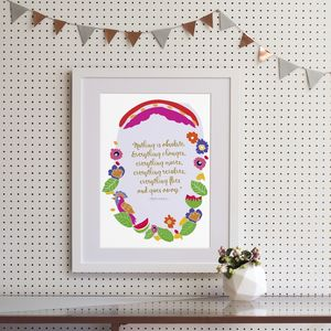 Frida Kahlo 'Nothing is absolute' Quote Art Print - pictures & prints for children