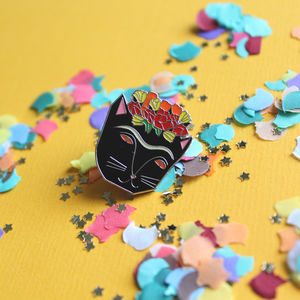 Frida Catlo Enamel Pin Badge - children's jewellery