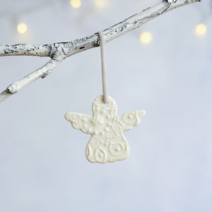 Porcelain Christmas Angel Hanging Decoration