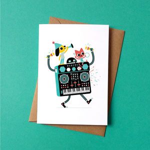 Synthi Party Greetings Card