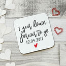 Set Of Personalised Years To Go Wooden Coasters