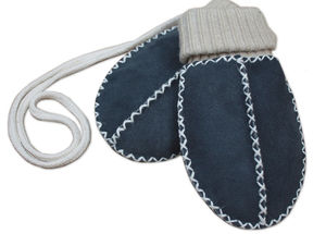 Lambskin Sock Mittens On String