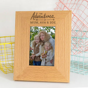 'Adventures' Personalised Mothers Day Gift Photo Frame - shop by recipient