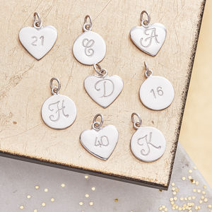 Silver Initial Charms - women's jewellery