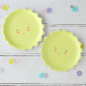 Baby Shower Sun Paper Party Plates