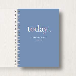 Personalised 'Today' Journal Or Notebook - planning & organising