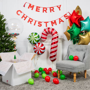 Inflated Christmas Candy Cane Party Package