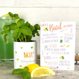 Grow Your Own Gin Cocktail Kit With Pot And Recipe Card