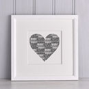 Personalised Names Heart Print