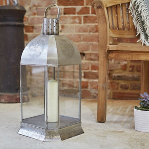 Metal Engraved Lantern