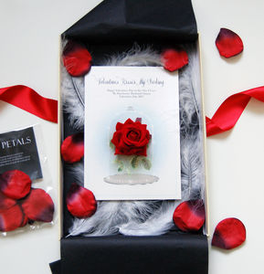 Fairytale Personalised Special Red Rose Valentines Card - cards & wrap