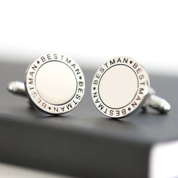 Best Man Round Cufflinks