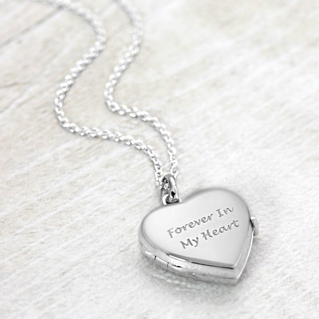Silver Heart: Solid Silver Heart Locket By Hersey Silversmiths