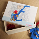 Personalised Paddington Bear Baby Keepsake Box
