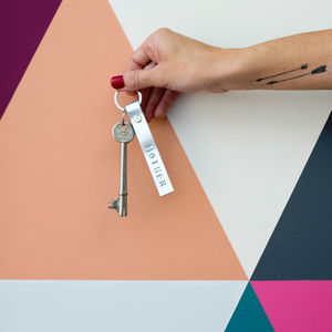 Starling Personalised Leather Keyrings In 18 Colours - style