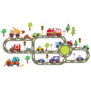 Personalised Children's Road Wall Sticker Pack