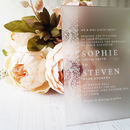 Lace Edge Perspex Wedding Invitation