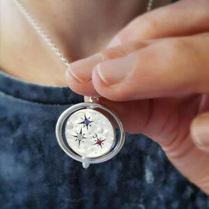Family Birthstone Spinning Universe Necklace