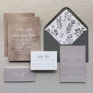 Wood Grain Wedding Invitations - invitations