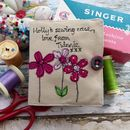 Personalised Flowers Needle And Sewing Case