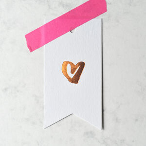 Heart Gift Tags Copper And Gold
