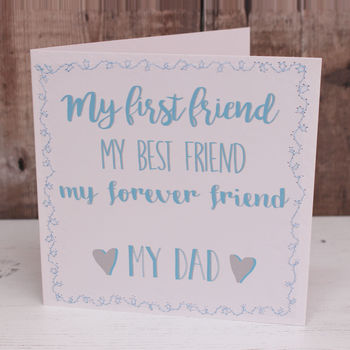 'My First Friend' Father's Day Card