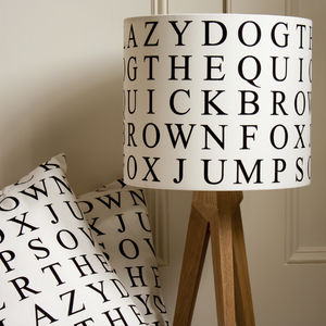 Quick Brown Fox Lampshade - dining room