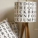 Quick Brown Fox Lampshade