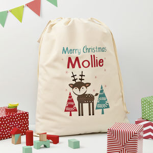 Personalised Christmas Reindeer Sack - stockings & sacks