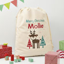 Personalised Christmas Reindeer Or Fox Sack