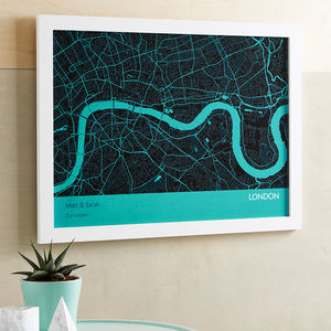 Personalised London City Street Map Print - modern & abstract