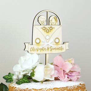 Personalised Camper Van Wedding Topper - table decorations