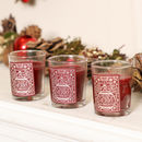 Set Of Three Merry And Bright Christmas Scented Candles